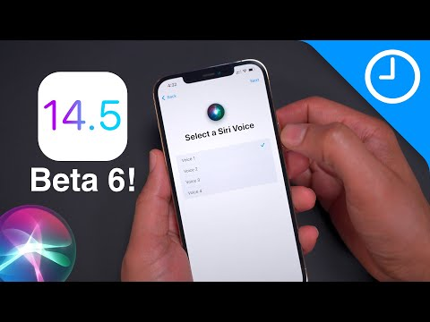 iOS 14.5 beta 6 changes/features – New Siri voices!