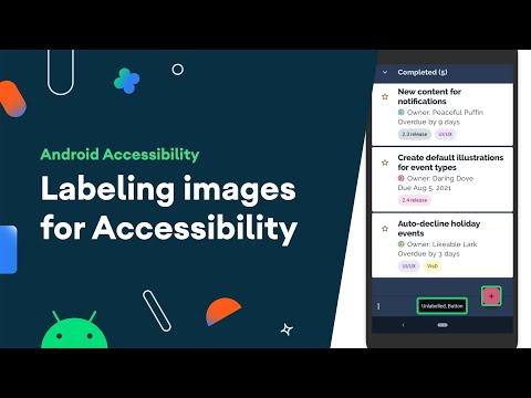 Labeling images for Accessibility
