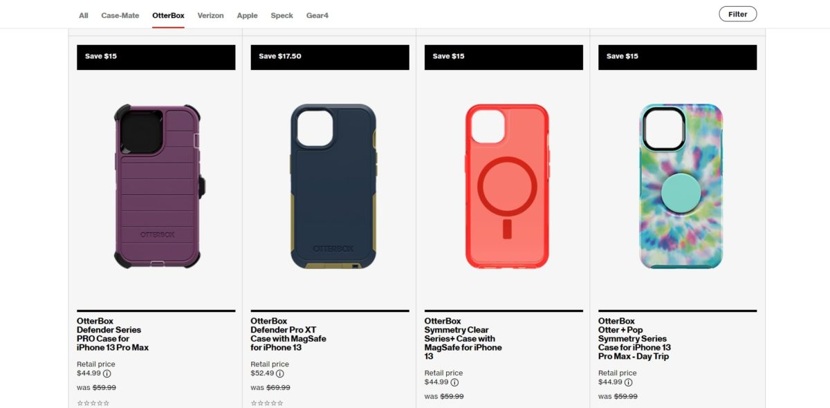 Protect your iPhone 13 with an Otterbox case for 25% off from Verizon