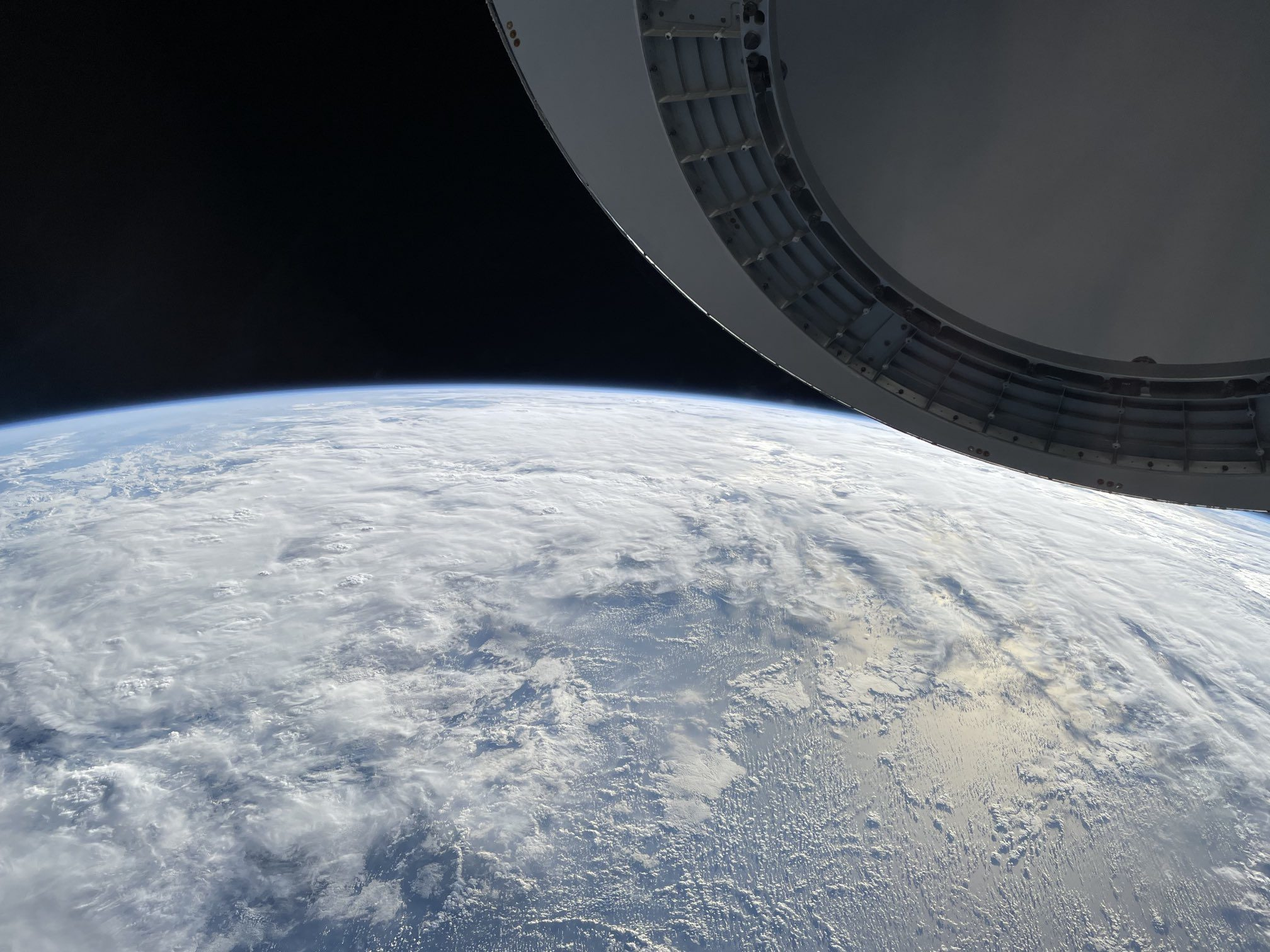 Jared Isaacman shares views from space using an iPhone